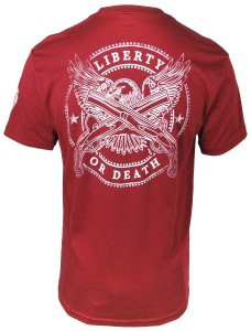 Front Toward Enemy Brand liberty or death Tshirt