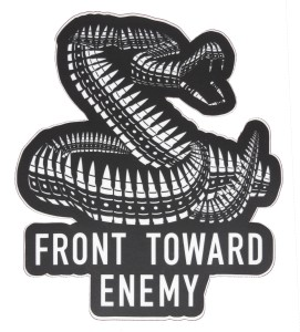 Front Toward Enemy Brand Decal