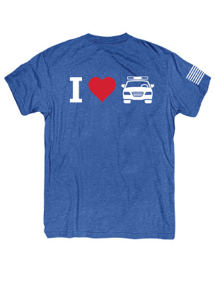 FTE_I HEART COP CAR MENS