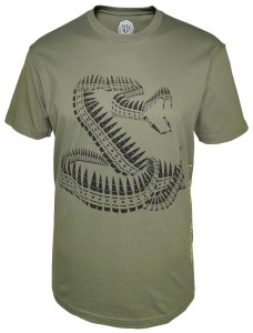 Front Toward Enemy Brand Bullet Snake Tshirt